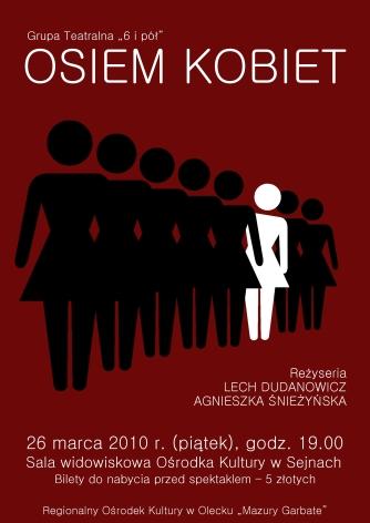 """Plakat """"Osiem kobiet"""" (2010)"""